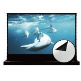 """Vividstorm - 72"""" Floor Rising Tension Screen in Cinema White for Normal Projector - White"""