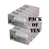 Double Gang Flush Mount Metal Pattress 35mm Deep Pack of Ten