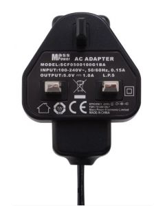 UK 5V 1A DC Power Supply AC Adapter Plug