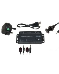 Keene IR Distribution Amplifier Kit Pro4 Including Black Panel Mount Receiver