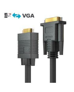 PureAffiliate - DVI-I/VGA Cable - black 10.0m